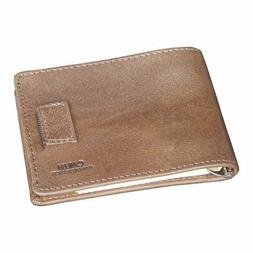 CAILLU Mini Leather Id money Clip,Purse Card,Designer Bifold