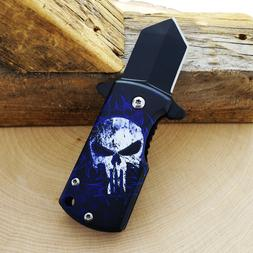 Mini Spring Assisted Money Clip/Pocket Knife With Punisher M