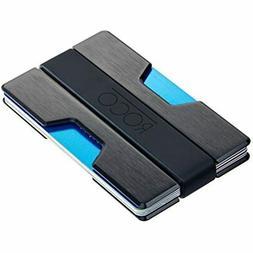 ROCO Minimalist Aluminum Slim Wallet RFID Blocking Money, Bl