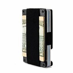 Minimalist Aluminum Wallet, Slim Money Clip Metal Wallet