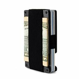 Minimalist Aluminum Wallet, Slim Money Clip Metal Small, Car
