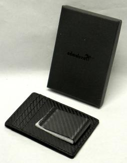Travelambo Minimalist RFID Leather Slim Wallet, Card Carrier