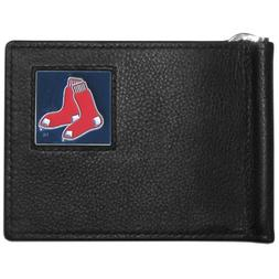 MLB Boston Red Sox Leather Bill Clip Wallet
