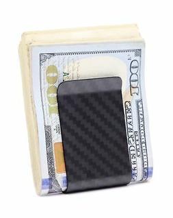 Kinzd Money Clip Carbon Fiber Minimalist Wallet Credit Card