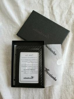 Travelambo Money Clip Carbon Fiber Wallet Slim Minimalist RF
