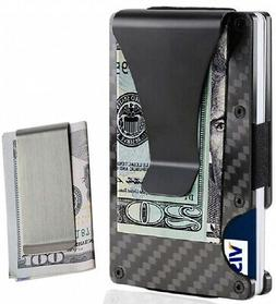 Money Clip Card Holder For Men Slim Light Weight RFID Blocki
