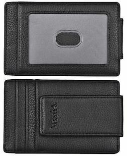 kinzd Money Clip, Front Pocket Wallet,Leather RFID Blocking