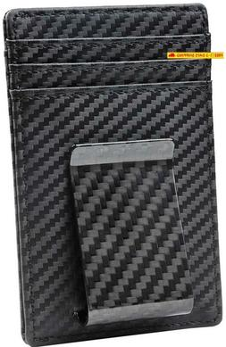 Travelambo Money Clip Front Pocket Wallet Slim Minimalist Wa