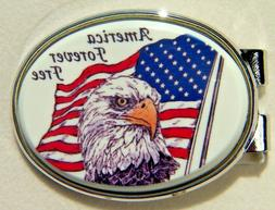 Money Clip Oval Barlow Photo Reproduction in Color Eagle Ame