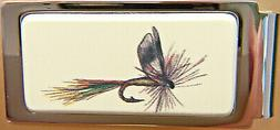 Money Clip Barlow Photo Reproduction in Color of Fly Lure Hi