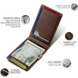 money clip rfid blocking card holder slim