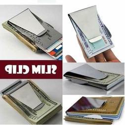 Money Clip Slim Minimalist Wallets Double Sided Slim wallet