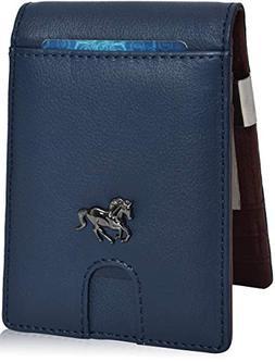 Money Clip Slim Wallets for Men - RFID Leather Front Pocket