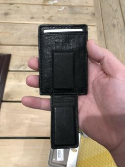 Fossil Money Clip Wallet Brown Leather Magnetic Ingram Credi