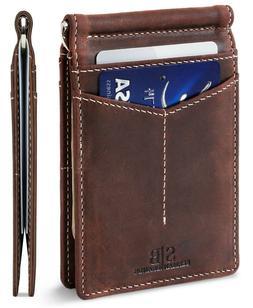 SERMAN BRANDS Money Clip Wallet - Mens Wallets Slim Front Po