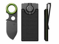 Money Clip With Built-in Fixed Blade Knife Gerber Organizer