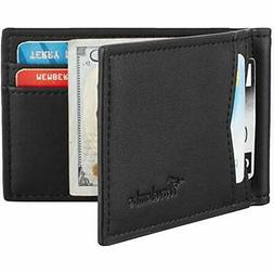 Travelambo Money Clips Leather RFID Blocking Slim Minimalist