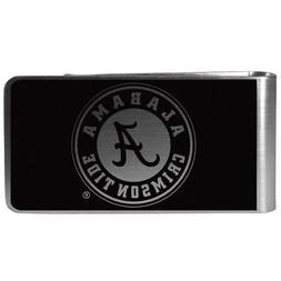 NCAA Alabama Crimson Tide Black & Steel Money Clip