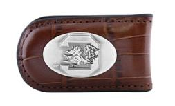NCAA South Carolina Fighting Gamecocks Tan Crocodile Leather