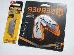 New & Sealed! Gerber Razor Blade Utility Knife w/clip DeWalt