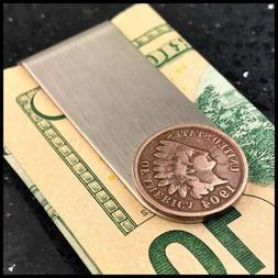 New Credit Card Money Clip Wallet Antique Indian Head Penny