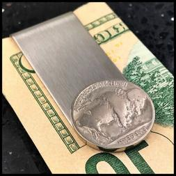 New Credit Card Money Clip Wallet Buffalo Nickel Vintage Coi