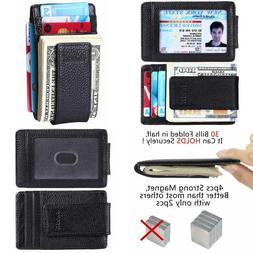 NEW Front Pocket Wallet Money Clip Credit Card Slots Slim Ho