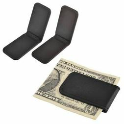 New Genuine  Leather Magnetic Slim Pocket Money Clip Holder