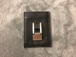 new genuine leather money clip wallet w