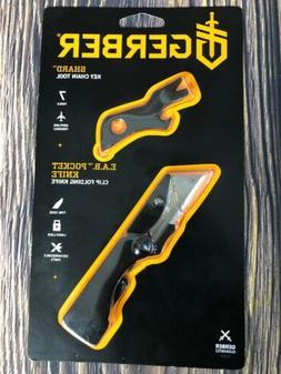 NEW Gerber EAB Clip Folding Pocket Knife w/ Shard Key Chain