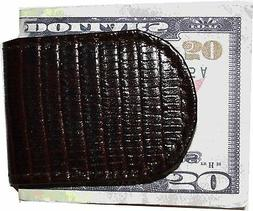 New Lizard printed leather money clip, Unbranded money clip