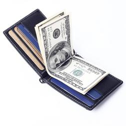 New Men Genuine Leather Wallet Fashion Brand Slim <font><b>F
