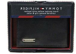NEW TOMMY HILFIGER MEN'S LEATHER CREDIT CARD WALLET MONEY CL