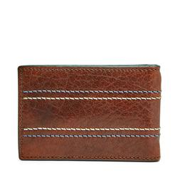 NEW FOSSIL MEN'S LEATHER REESE RFID PROTECTED BIFOLD MONEY C