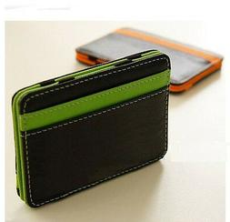 New Mens MAGIC MONEY CLIP Wallet Faux Leather ID Credit Card