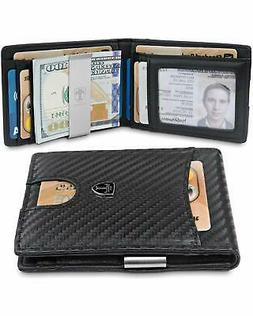 NEW Slim Wallet Money Clip SEATTLE RFID Blocking Card Mini B