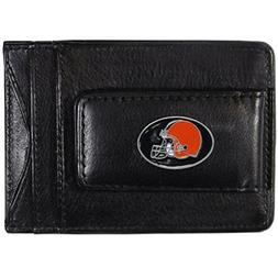 NFL Cleveland Browns Leather Money Clip Cardholder