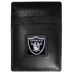 Siskiyou NFL Oakland Raiders Leather Money Clip/Cardholder P
