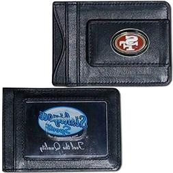 NFL San Francisco 49ers Leather Money Clip Cardholder