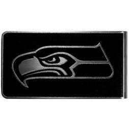 NFL Seattle Seahawks Black & Steel Money Clip