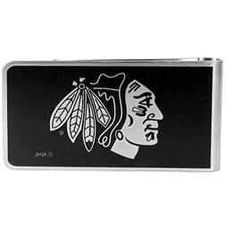NHL Chicago Blackhawks Black & Steel Money Clip