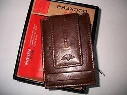 nib magnetic money bill clip leather wallet