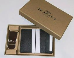 NWT Coach 41344 Boxed 3-In-1 Card Case Money Clip Gift Set S