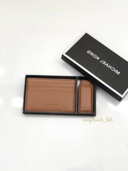 NWT Michael Kors Men's Money Clip Card Case Wallet Gift Set