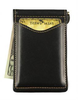 Palm West 225Rfid-B Mens Premium Leather Minimalist Money Cl