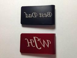 Personalized Engraved Money Clip Six Colors - Dad Father's D