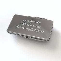 Personalized Engraved Stainless Steel 3-Tool Money Clip Plus