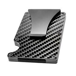Premium Slim RFID Wallet By Tactical Ninja: Minimalist Carbo