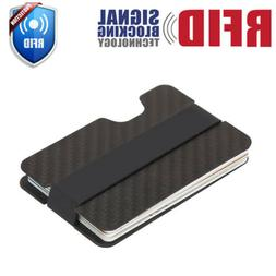rfid blocking carbon fiber money clip slim