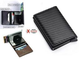 rfid blocking genuine leather credit card holder